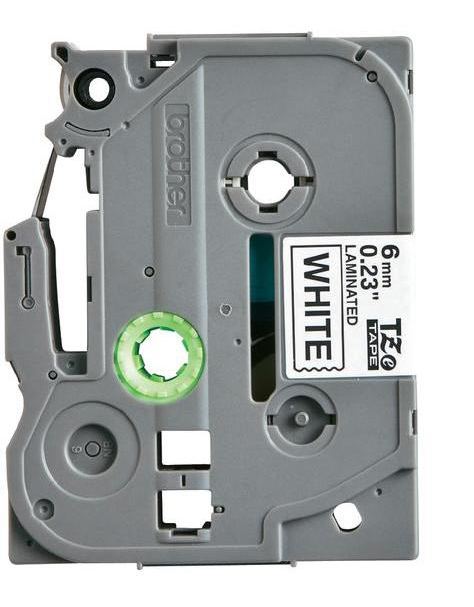 Premium Quality  Black on White   P-Touch Label Tape compatible with the Brother (TZ211) TZe211