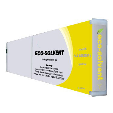 Premium Quality Yellow Eco-Ultra Ink compatible with the Mutoh VJ-MSINK3 YE-440