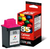 Genuine OEM Lexmark 12A1985 (Lexmark #85) Color Inkjet Cartridge