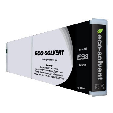 Premium Quality Black Eco Solvent Ink compatible with the Mimaki ES3 Bk-440