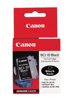Genuine OEM Canon 0956A003 (BCI-10B) Black Inkjet Cartridge (3 pk)
