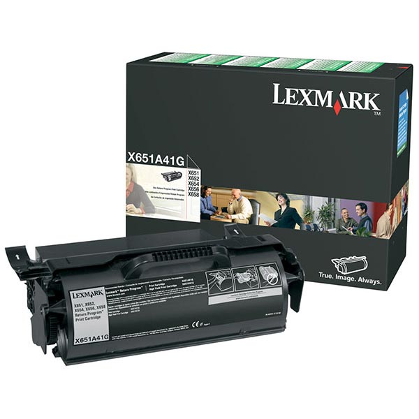 Genuine OEM Lexmark X651A41G Government Return Program Print Cartridge (TAA Compliant Version of X651A11A) (7000 page yield)