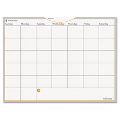 "Dry Erase Planning Surface, Monthly, 18""Hx24""W, White"