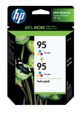 Genuine OEM HP CD886FN (HP 95) Tri-Color Inkjet Cartridge (2 pk)