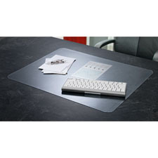 "Antimicrobial Desk Pads, Krystal View,17""x22"", Clear"