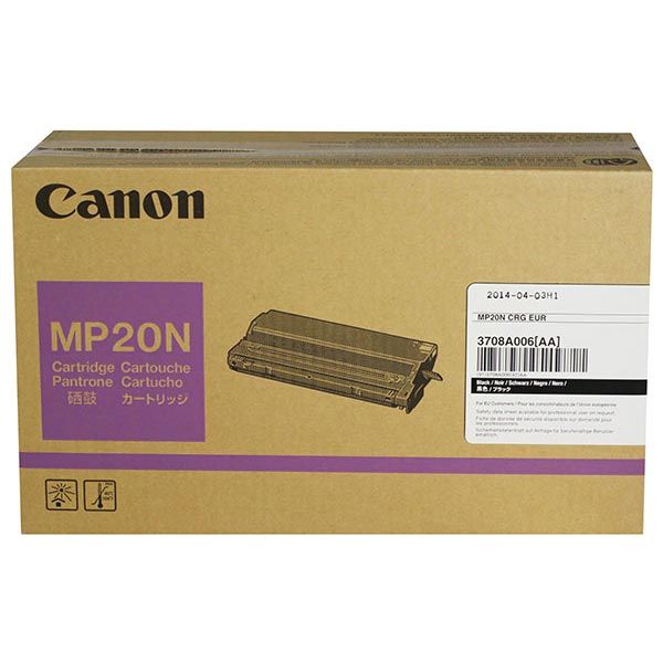 Genuine OEM Canon 3708A007AA (MP20) Black Copier Toner